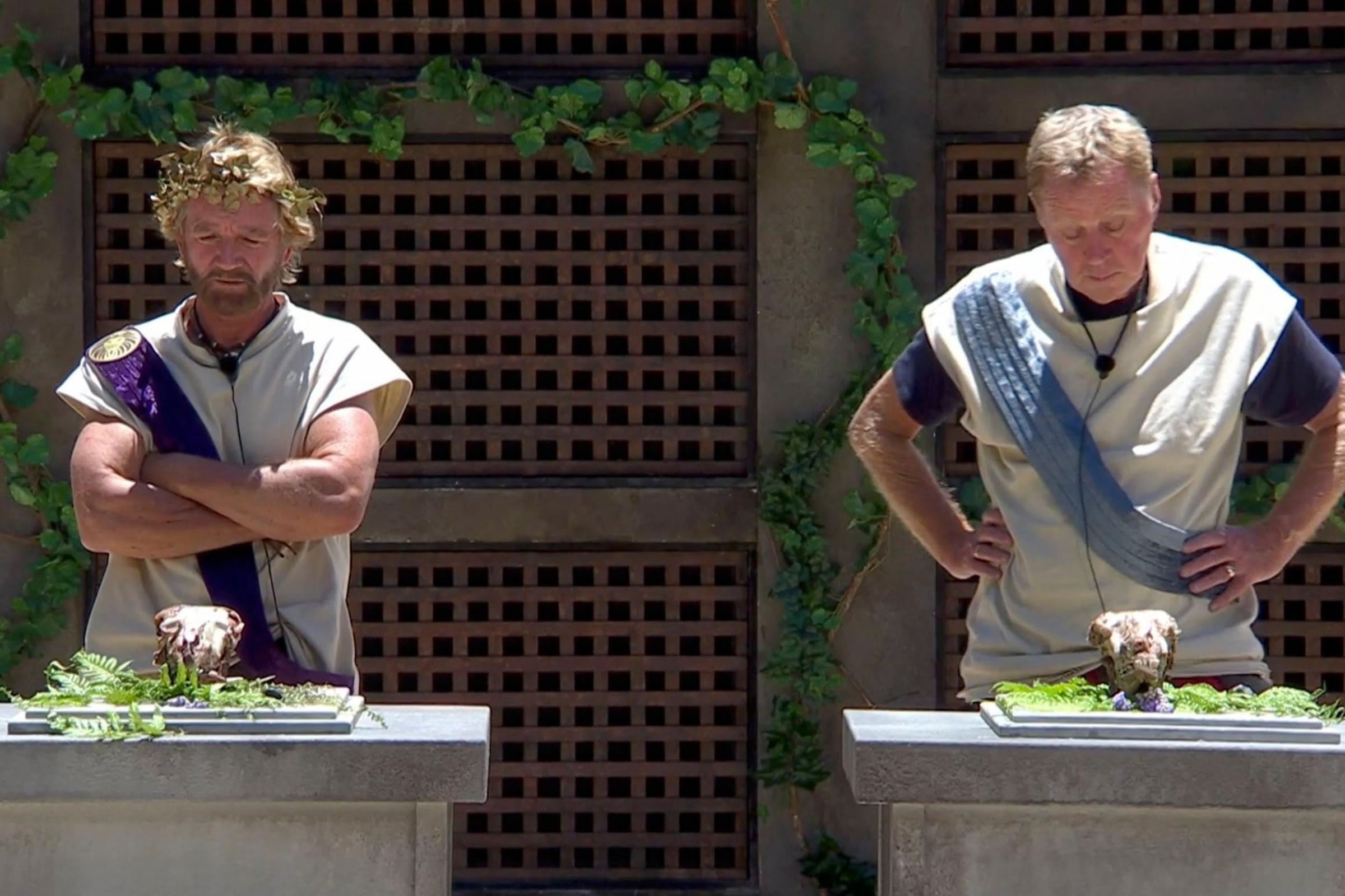Noel Edmonds And Harry Redknapp Eat Sheep's Brains On I'm A Celeb